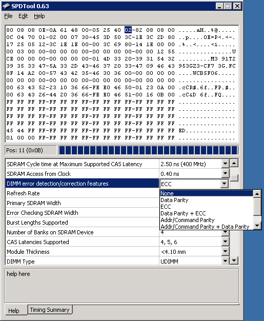 SPDToolでECCメモリをNon-ECC化...